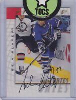 Adam Oates 1998 Pinnacle Be A Player Signatures Hard Signed Washington Capitals
