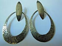Boucles d'oreilles 925/1000 Vintage, Pendantes, Créateur, 12,2 gr , à nettoyer