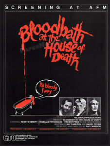 BLOODBATH AT THE HOUSE OF DEATH__Original 1984 Trade AD / poster__VINCENT PRICE