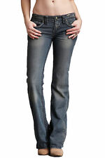 *NWT*Stitch's Women's  Cherokee Blue Crow Bootcut Leg Jeans #WCHES15 Size 27