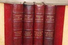 works of aldrich (4 volumes reliés) 1911-1913 (voir description)