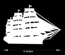 Sailing Ship with flag - Car Decal(Choose any color!) premium cutout vinyl decal