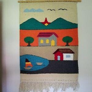 Vintage Large Handmade Weave Wall Hanging