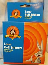 Looney Tunes Laser Roll Stickers  30 Gift 6 Designs All Occassion New