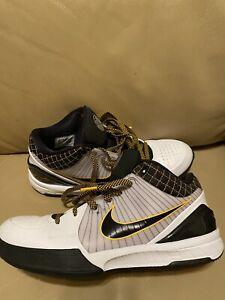 """Nike Zoom Kobe 4 IV Protro Black/White """"Del Sol"""" Size 11"""