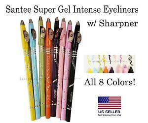 Santee Super Gel Intense Eyeliners - Full Set of 8 Colors, US SELLER