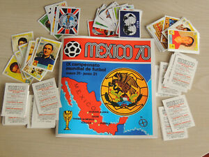 ALBUM PANINI MEXICO 70 INTERNATIONAL+ COMPLETE SET OF STCKERS-CARDS,ANASTATIC