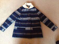 Ladies Womans Sessun Blue Size L Vgc Perfect Winter Coat Jacket