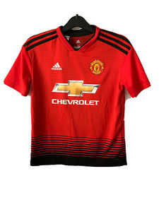 Manchester United Man U Football Shirt Jersey 2018 2019 11 12 Years Boy Kids