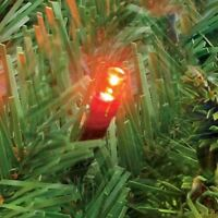 100 LED Red Christmas Xmas Lights Static Tree Fairy Outdoor Indoor Mains