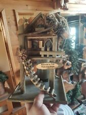 Our Neck Of The Woods Cabin Birdhouse very detailed Look Euc