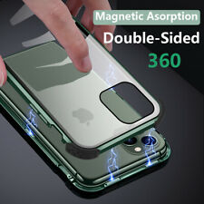 For iPhone 11 XR XS Max 6S 7 8+ Magnetic Adsorption Double Side Glass Case Cover
