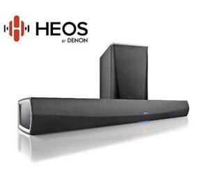 Denon HEOS HomeCinema Soundbar inkl. Wireless-Subwoofer f Airplay Alexa NEU OVP