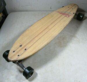 Vintage Sector Nine Puerto Rico Wood Longboard Skateboard Gullwing Trucks