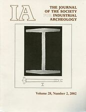 IA Journal of the Society For Industrial Archeology 2002 Vol 28 No 2
