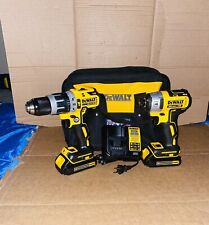 DEWALT 20Volt MAX XR Brushless Hammer Drill/Impact Combo + 2 Batteries & Charger