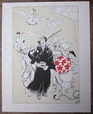 MICHETZ : Hommage Peyo,Franquin,Hermann,Loisel,Hergé,Moebius 40x50 num. & signé