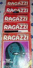 LOT 5 bandes dessinées COURRIER DEI GARÇONS 1975 avec affiche G. AGOSTINI,insert