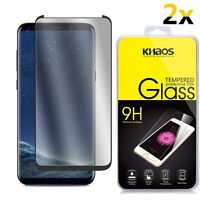 2x For Samsung Galaxy S8 Plus CASE FRIENDLY 3D Full Cover Glass Screen Protector