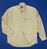 Kantar denim camicia uomo usato XXL beige cotone used shirt manica lunga T5377