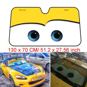 Aluminium Foil Car Windscreen Sun Visor Cartoon Big Eyes Windshield Shade Cover