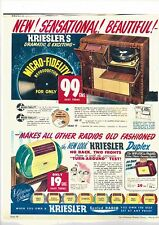 "Kreisler Radio ""DUPLEX"" COPY of original Colour Advertisement"