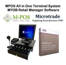 """15"""" POS Terminal, MYOB Retail Manager ver 12.5, printer, scanner, cash drawer"""