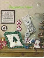 Sugarplum Noel Christmas Counted Cross Stitch Pattern Leaflet OOP Jean Farish