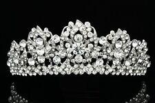 Bridal Wedding Pageant Rhinestone Crystal Lily Flower Tiara V814