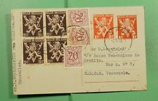 Dr Who 1956 Belgium Spa Uprated Postal Card To Venezuela f80498