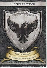 3 x The Night's Watch Faction Card Banner of the Watch AGoT 2.0 Game of Thrones