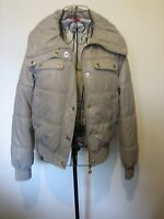A LOVELY STYLISH WOMEN'S PINEAPPLE GREY COAT SIZE 8 /  ZIP & POP BUTTON FASTENER