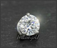 Brillant Diamant 585 Gold Anhänger 0,33ct, River D, Lupenrein! 14 Karat Weißgold