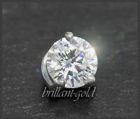 Brillant Diamant 585 Gold Anhänger 0,26ct, River D, VVS1; Weißgold Damenanhänger