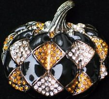 Heidi Daus REPLICA Harlequin Pumpkin Halloween Thanksgiving Pin Pendant Jewelry
