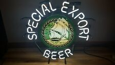 (L@K) Special Export Old Style Beer Ship & Water Neon Light Up Bar Sign Wi Rare