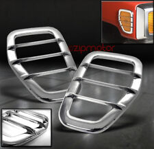 06-09 HUMMER H3 SIDE MARKER LIGHT COVERS GUARD TRIM CHROME LEFT+RIGHT PAIR 07 08