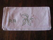 Ancien Range serviette, pochette , broderie, linge ancien
