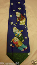NECK TIE HOLIDAY CHRISTMAS GOLFING SANTA CLAUS NWT NEW WITH TAGS GOLF BALLS