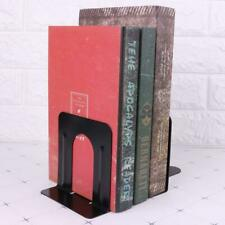 1Pair New Non-Skid Bookends Solid Metal 12 cm High 2 Bookends Black Metal Useful