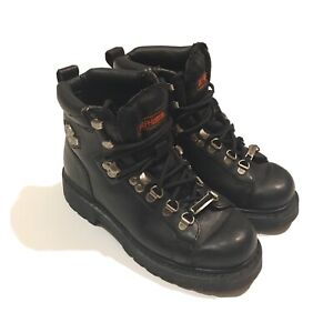 Harley Davidson Women's Boots Black Leather Boots  #81610 Size 6