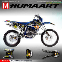 Dirt Bike Sticker Vinyl Decal Kit for Yamaha WR250F WR450F 2003 2004 MX Graphics