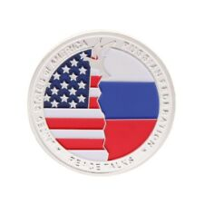 New US President Trump Putin Meeting Commemorative Coin Collection Arts Souvenir