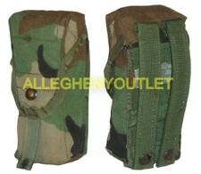 Double Mag Pouch Woodland Camo DCU Molle 2 Magazine Pouch Button US Military VGC