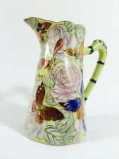 DOMINIE'S COLLECTION HAND PAINTED ON GLAZE PITCHER Gold
