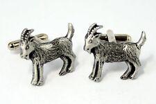 Goat Cufflinks by Hoardersworld,  English Pewter, Handmade, Gift Boxed (hin)