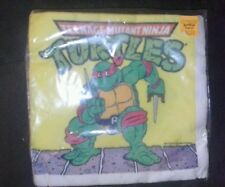 TNMT Vintage Birthday Party 16 Napkins NEW Teenage Mutant Ninja Turtles 1989 WOW