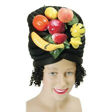 Carmen Miranda Fruit Hat With Hair Caribbean Fancy Dress Adult P2349