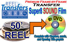 Transfer Super 8 SOUND film to DVD -  Frame-by-Frame scanned, Premium Quality