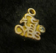 Cybis Porcelain Advertising Item. Gold Pin Pendant with small Diamond